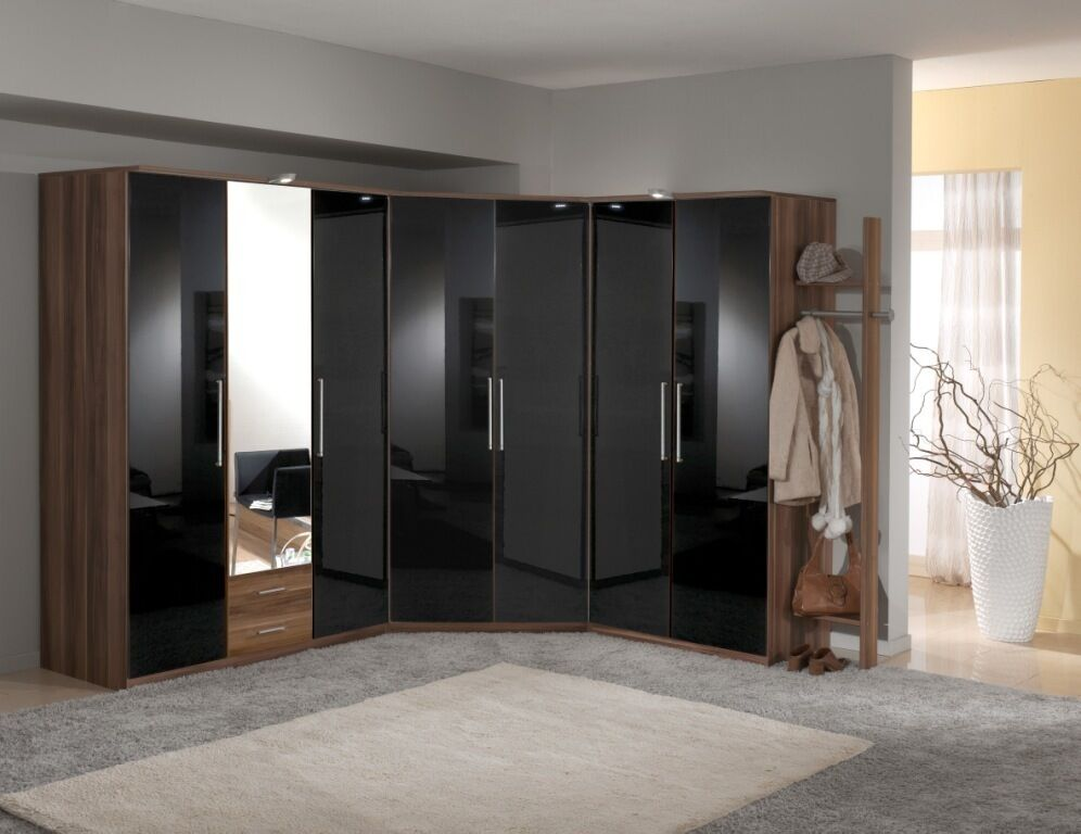 made bedroom furniture grande wardrobe range black walnut ebay