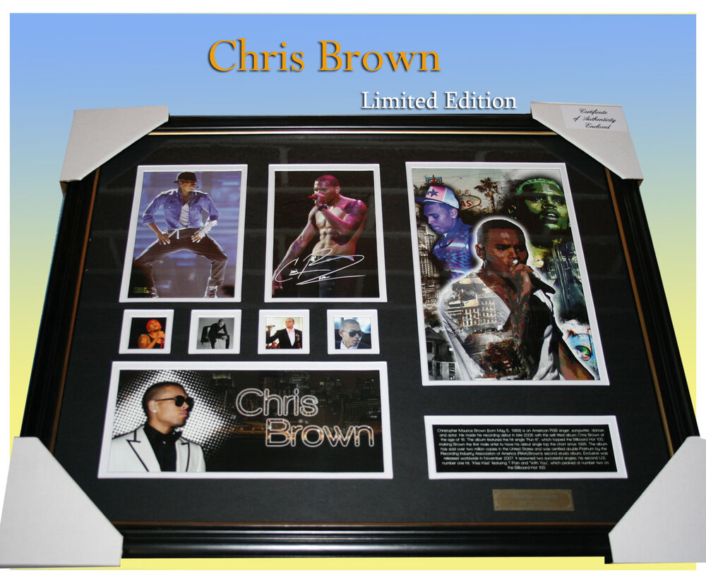 CHRIS BROWN SIGNED MEMORABILIA LIMITED EDITION 499 COA ...