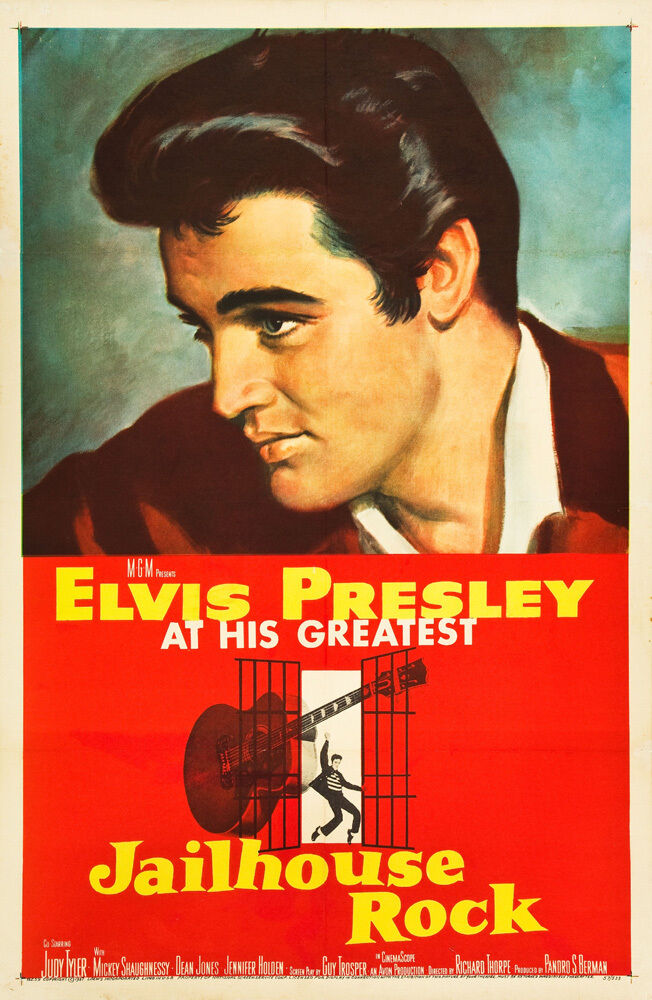 Elvis Presley in * Jail House Rock * USA Movie Poster ...