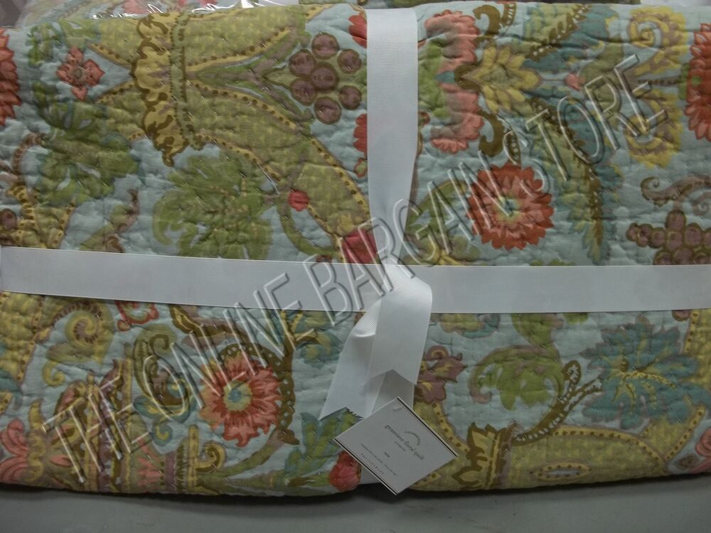 Pottery Barn Floral Stripe Spring Genevieve Reversible