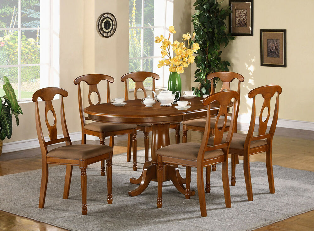 5 pc oval dinette dining room set table and 4 chairs ebay for Dining room table and 4 chairs