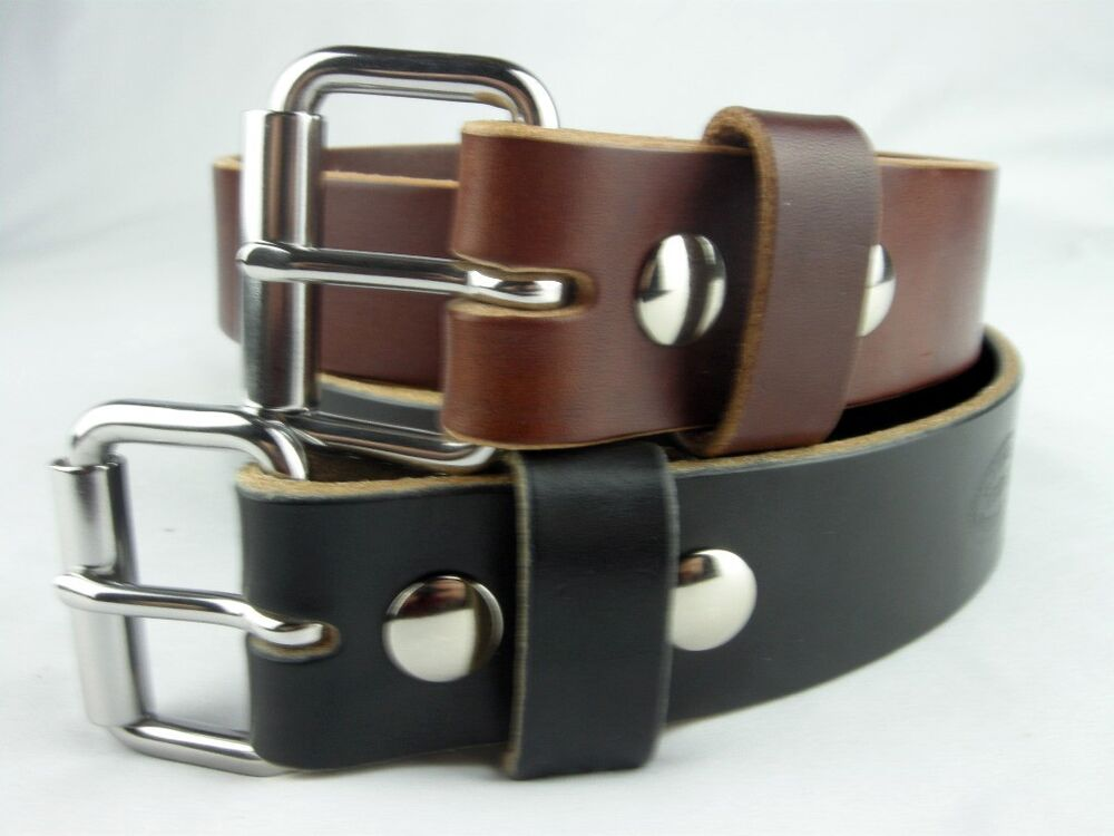 These handmade work belts are all made for everyday use by cowboys, ranchers, or working men. All of these handmade belts are quality made and are built to last. Conveniently, these leather work belts all have Chicago screws so you can easily put on your favorite buckle or a classy trophy buckle.