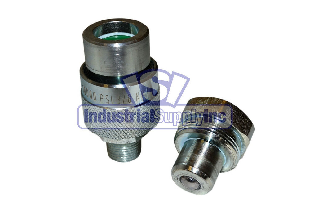 High Pressure Coupler : Pair quot psi high pressure hyd quick coupler