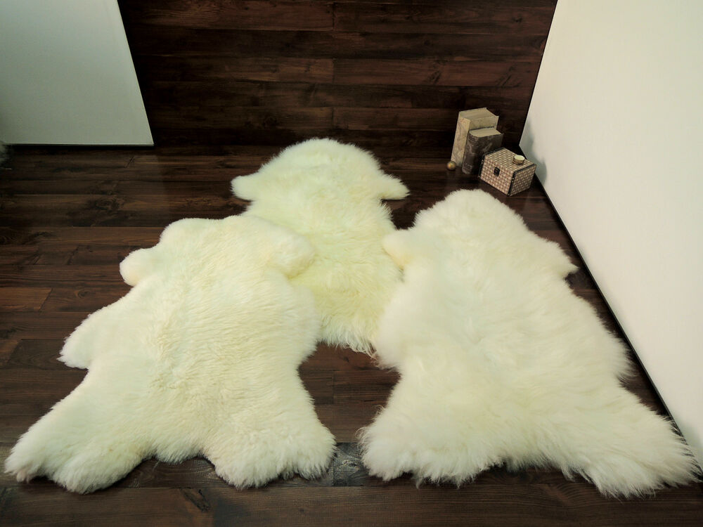 Soft 100 Genuine Natural Sheepskin Rug Pet Bed Dog