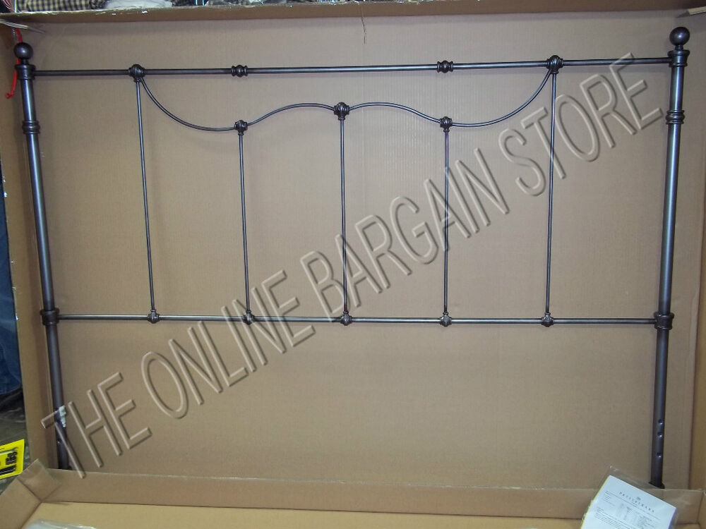 Pottery Barn Savannah Bed Headboard Scrollwork Footboard