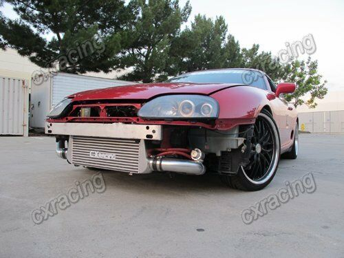 cxracing intercooler kit for 93 02 toyota supra mkiv mk4 2jz gte twin turbo bov ebay. Black Bedroom Furniture Sets. Home Design Ideas