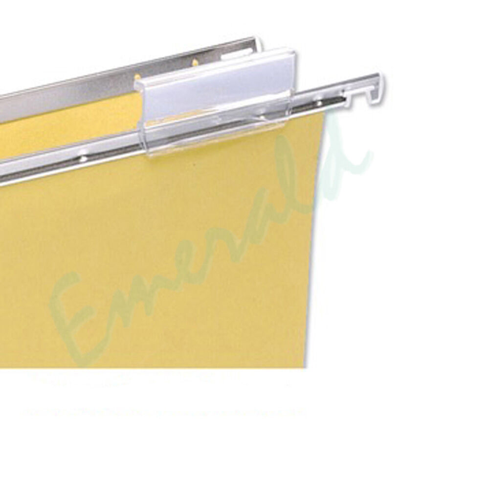 Suspension file clear plastic filing tabs inserts fits for Suspension fille