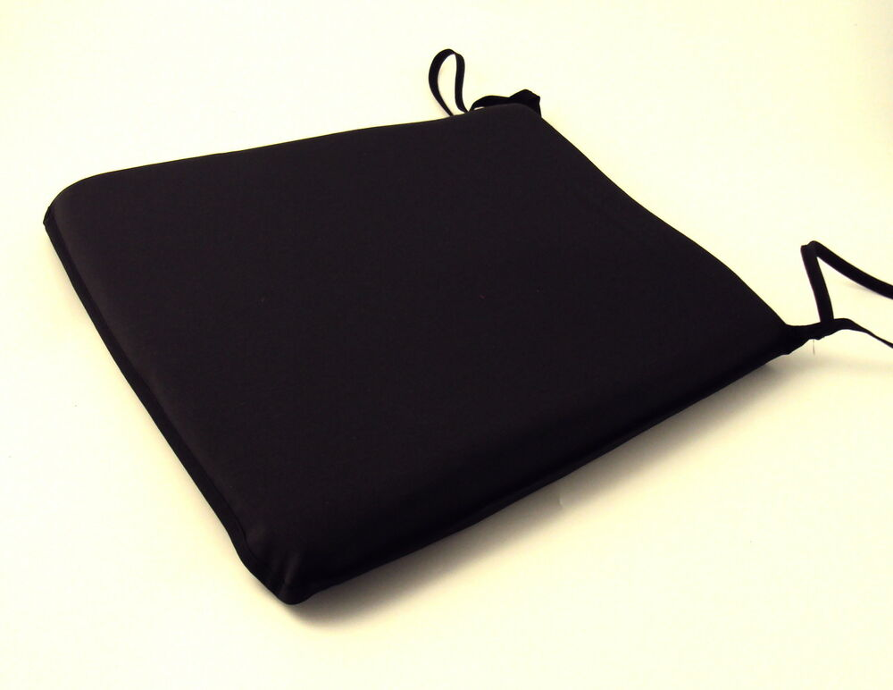 large black tie on chair kitchen dining room patio seat pad cushions ebay. Black Bedroom Furniture Sets. Home Design Ideas