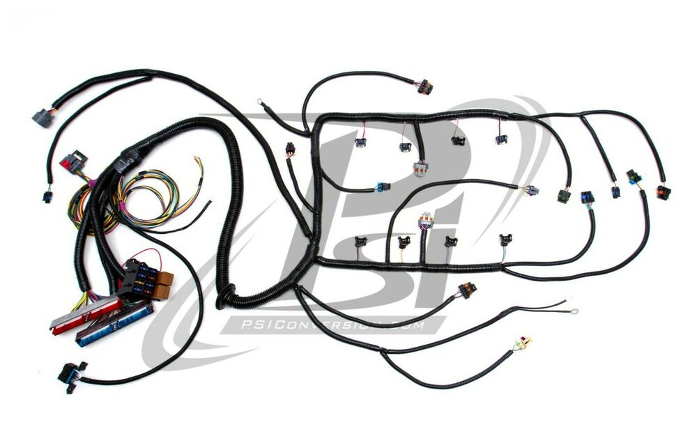 1997 ls6 psi standalone wiring harness w  4l60e  drive by wire