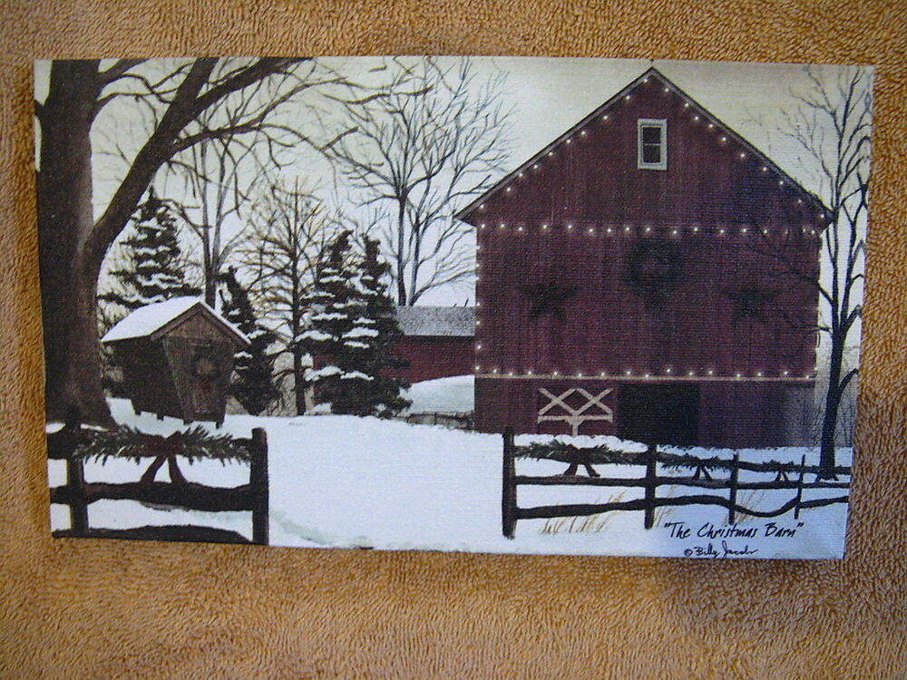 Christmas barn holiday farm canvas wall decor painting Interiors by design canvas art