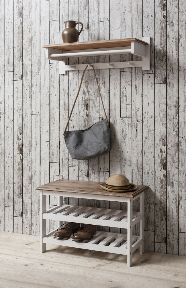 shoe storage unit in dark pine white shoe cabinet and coat hook ebay. Black Bedroom Furniture Sets. Home Design Ideas