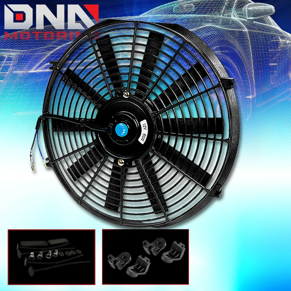 Dc Electric Fan : Quot pull push slim volt electric radiator black fan