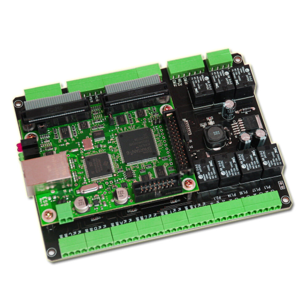 Cnc breakout board ethernet smooth stepper mach3 motion for Cnc stepper motor controller