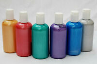 Scola Pearl & Fluorescent Fabric/Textile Paint 150ml - 12 Fabulous Colours