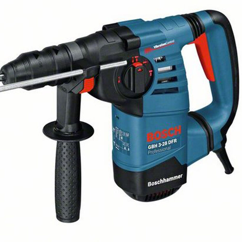 bosch gbh 3 28 dfr 3kg sds rotary hammer drill with 2 quick change chucks 110v ebay. Black Bedroom Furniture Sets. Home Design Ideas