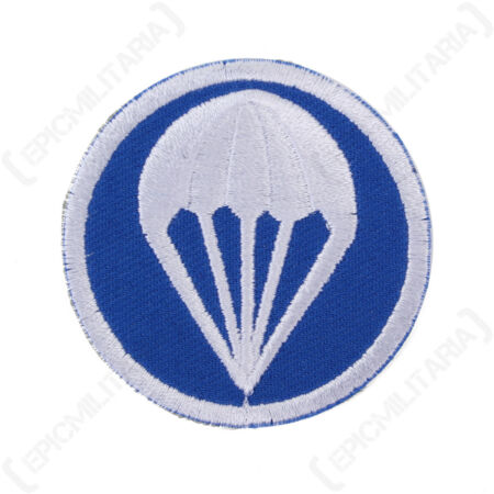 img-WW2 US Paratroopers Garrison Cap Badge - Blue - Repro Patch Uniform Insignia New