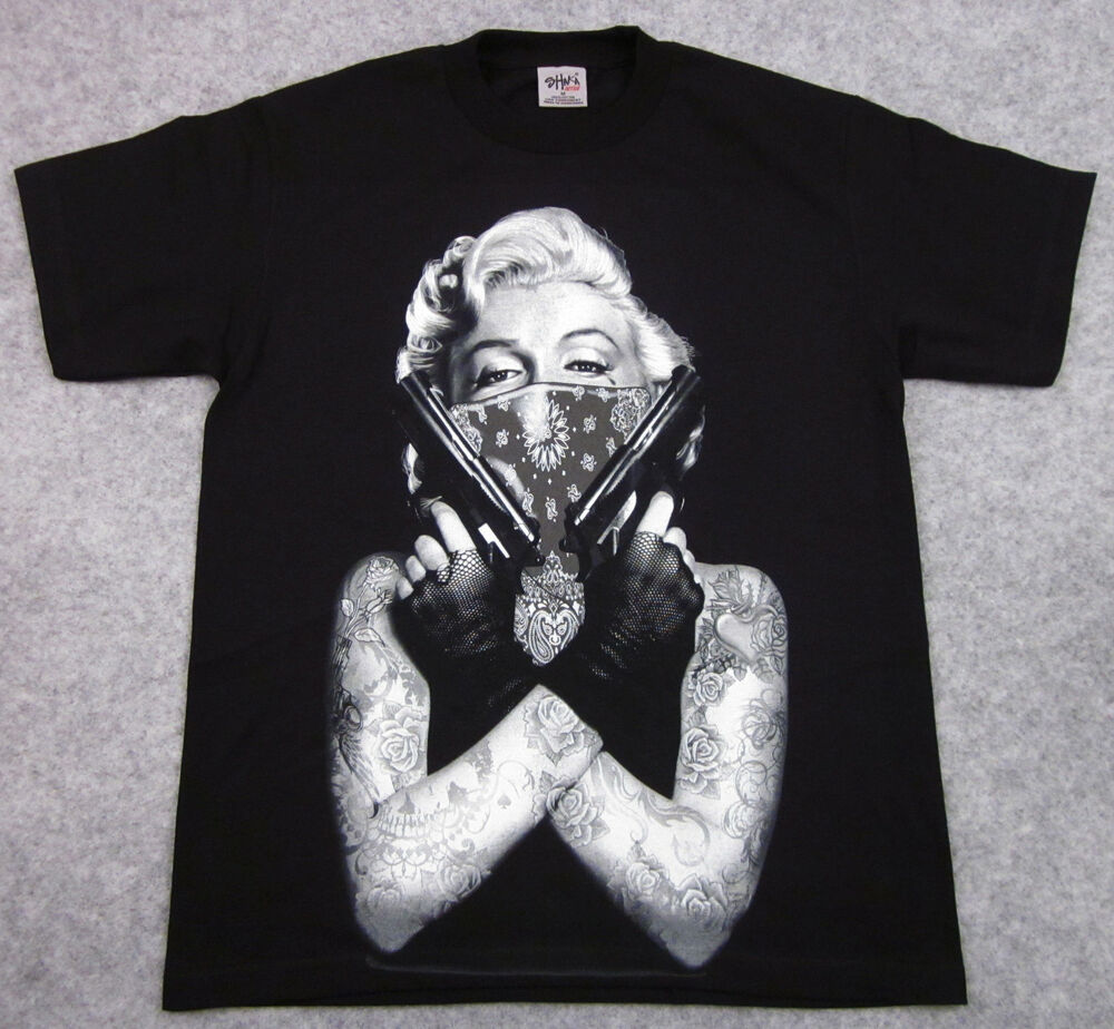 Citaten Marilyn Monroe Xl : Marilyn monroe t shirt tattoo bandit tee guns adult big