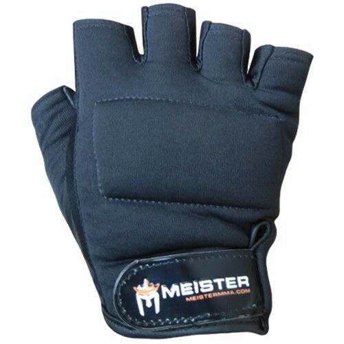 Weight Lifting Gloves Leather Fitness Gym Training Workout: BLACK Leather Weight Lifting Workout Gloves