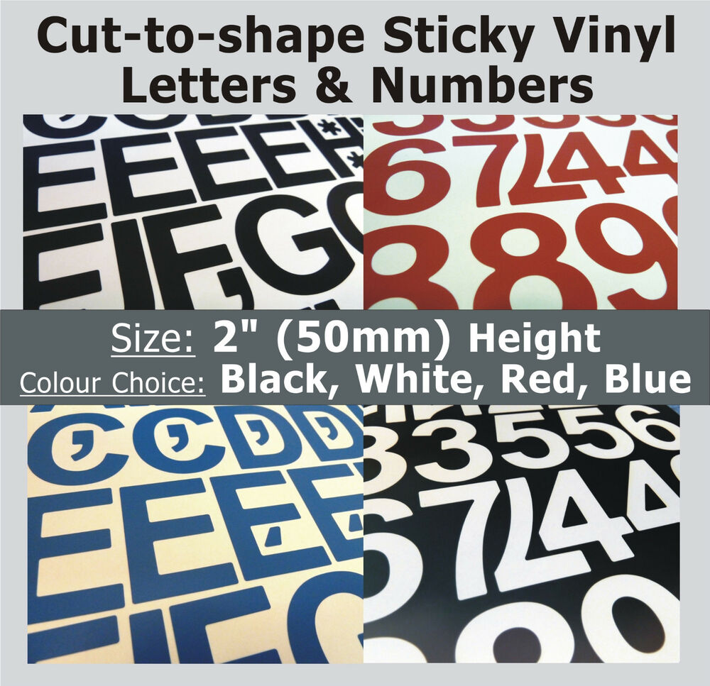 79 x sticky letters and numbers 2quot self adhesive With vinyl letters for plastic