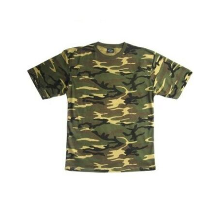 img-Woodland Camouflage T-Shirt - 100% Cotton Army Military Top All Sizes New
