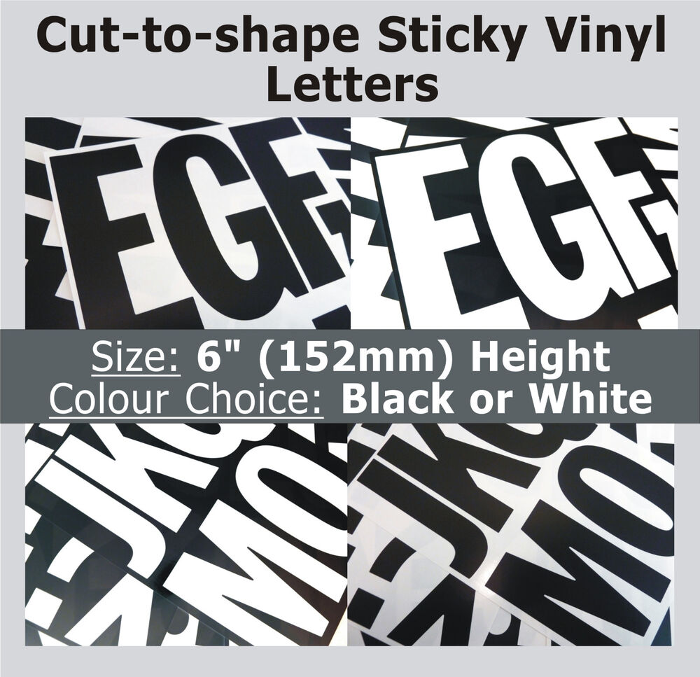 vinyl sticker letters 39 x sticky letters 6 quot self adhesive labels plastic 25444 | s l1000