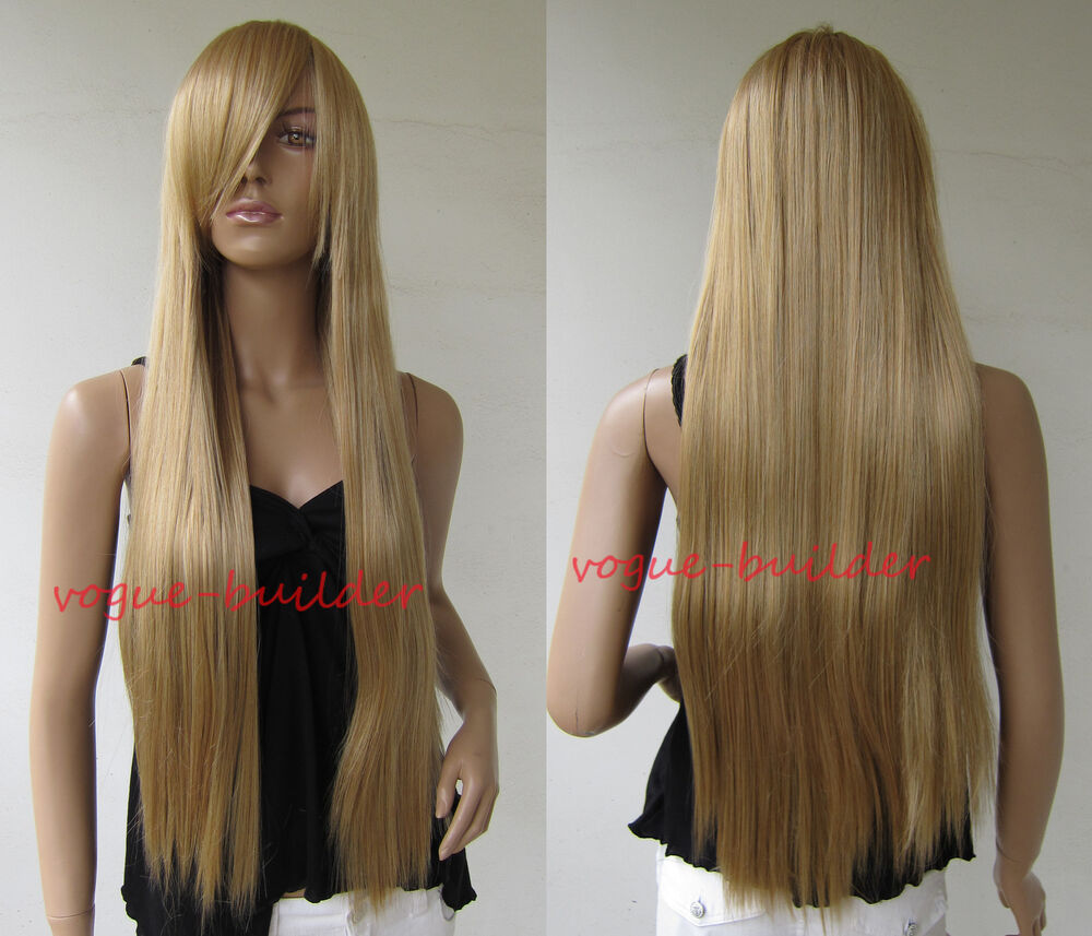 75cm 30 Inch Long Golden Blonde Straight Cosplay Party