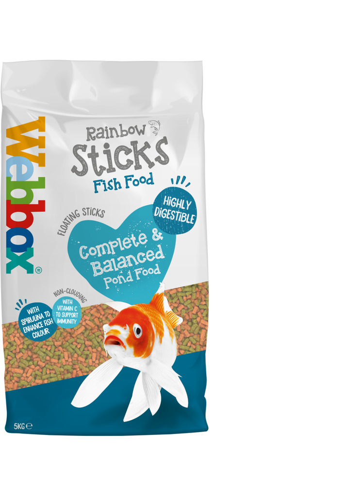 Webbox rainbow sticks floating koi carp pond fish food for Best food for koi fish