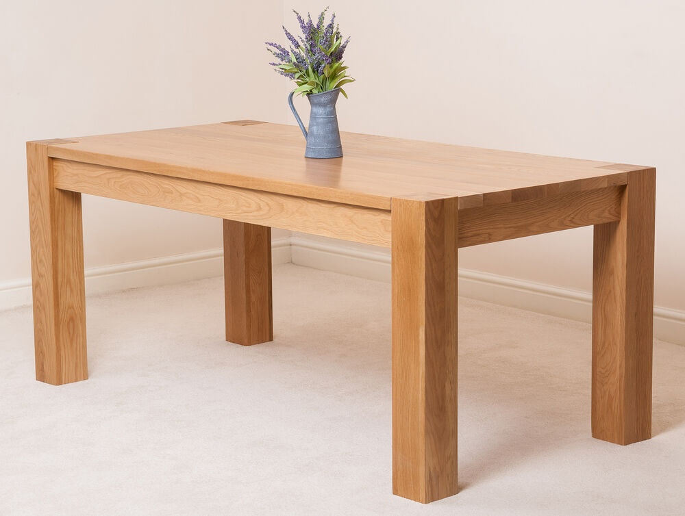 unfinished kitchen table kuba solid oak wooden large 180cm fixed dining room table 3041