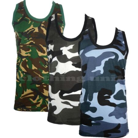 img-Mens Camouflage Sleeveless Cotton Vest Army Combat Gym Muscle Big S-5XL