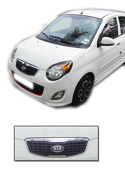 front hood radiator grill 1p for 2010 kia picanto new. Black Bedroom Furniture Sets. Home Design Ideas