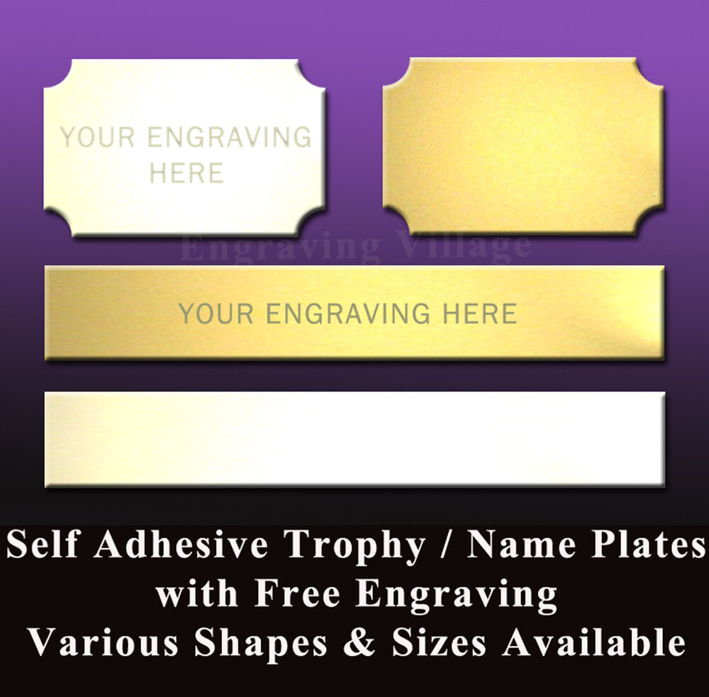 Trophy engraving plates metal name plaques engraved - Plaque adhesive cuisine ...