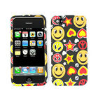 Happy Faces & Peace Signs Hard Case For Apple iPhone 4 4S Phone Cover Faceplate