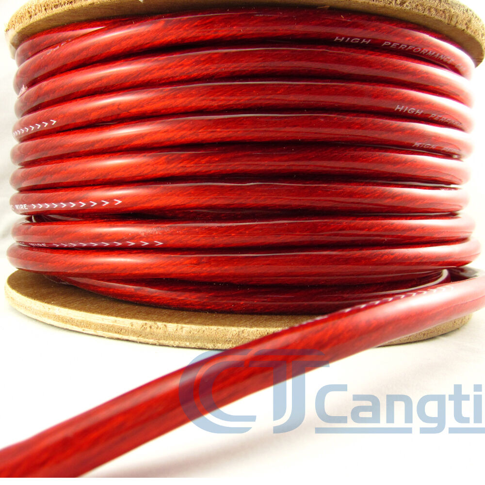 1 Meter Wire Current : Gauge awg car subwoofer amp wiring wire power ground