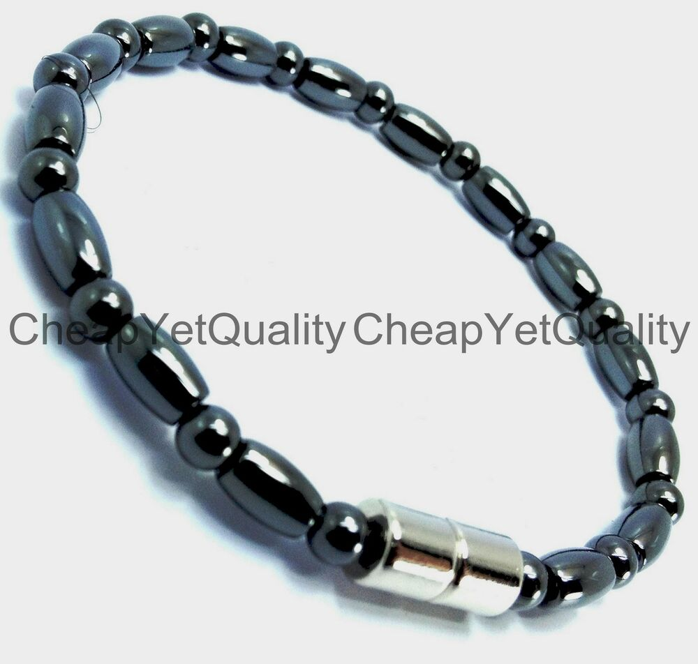 [TRIPLE POWER] Magnetic Hematite Bracelet Anklet Necklace ...