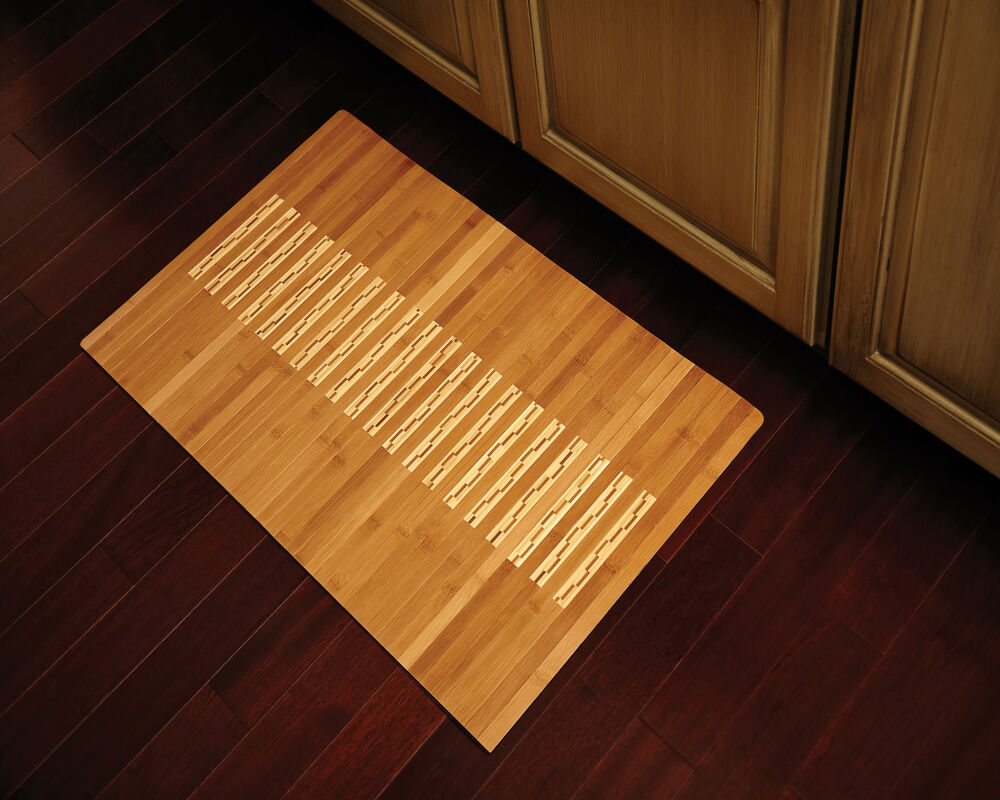 kitchen sink rugs bamboo rug kitchen bath mat high quality glossy finish 2866