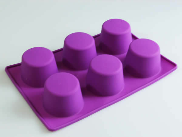 6 Cell Extra Deep Mini Victoria Sponge Silicone Bakeware