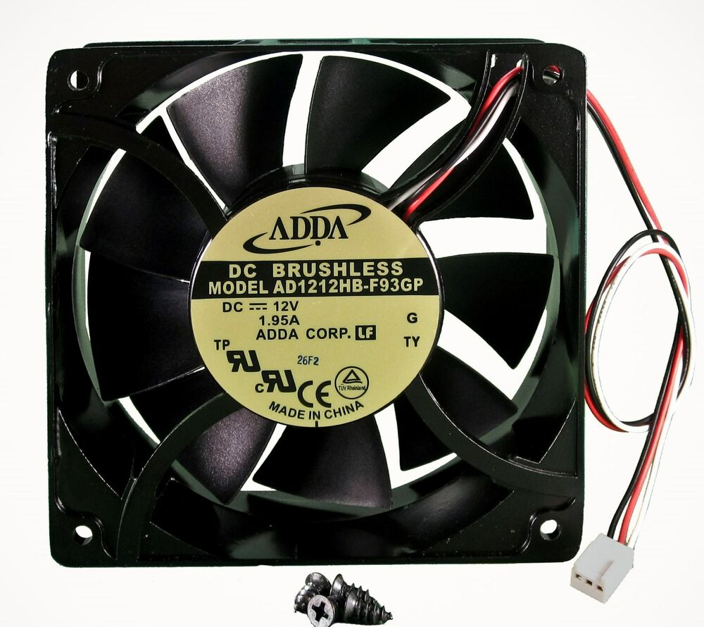 Bathroom exhaust fans ratings - New 120mm 38mm Case Fan 12v 200cfm Pc Cooling 3pin Metal 4 Screws Ball 330