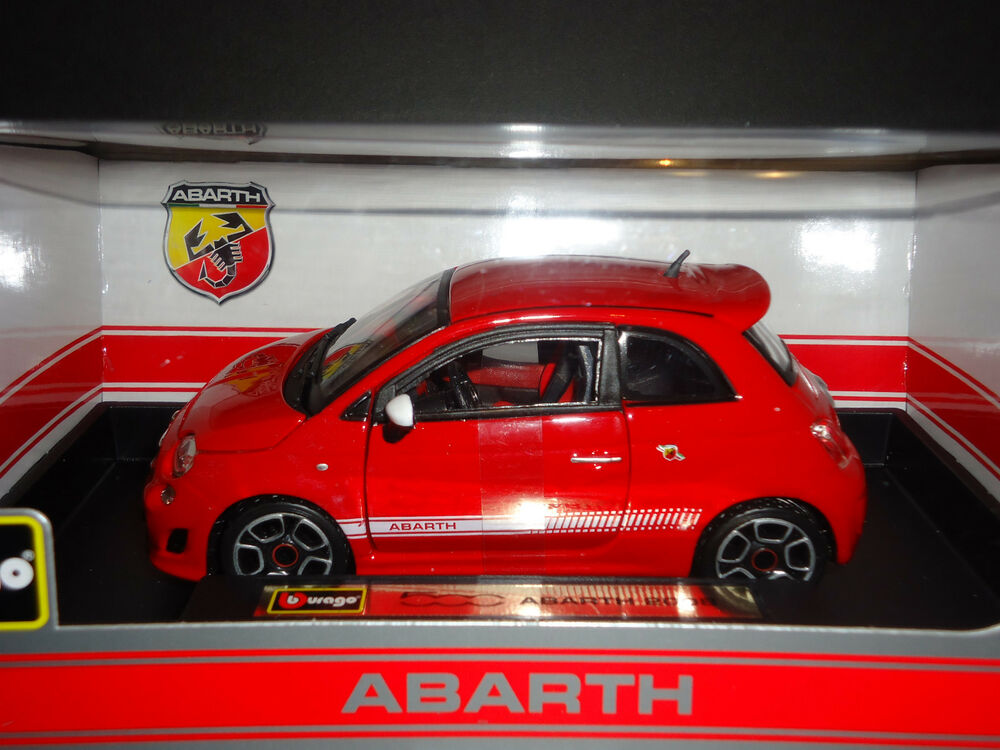 Bburago Fiat Abarth 500 2008 Red 1 24 Ebay