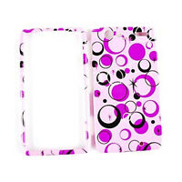 Pink White Black Circles Hard Cover Case For Motorola Droid RAZR XT912 Accessory