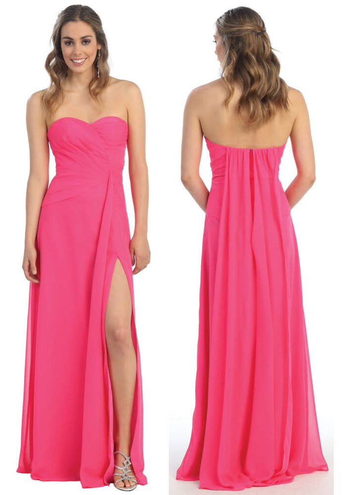 Classic Simple Long Bridesmaids Prom Gown Dinner Party Formal Homcecoming Dress | EBay