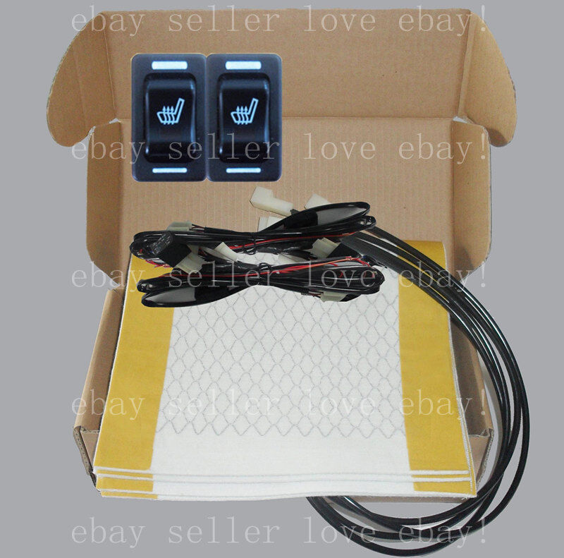 Hi Off Lo Rectangle Switch Seat Heater 2 Seats Heated Seat