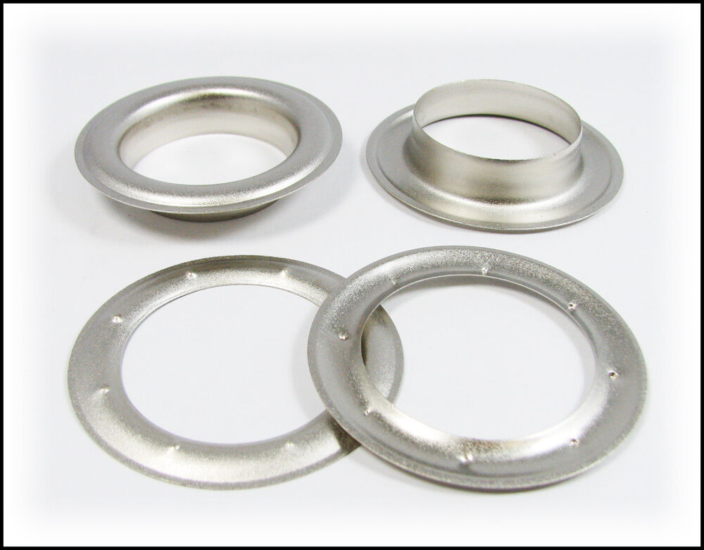 """... 12 2 5"""" Wide Satin Silver Metal Grommets with Washers 32 28 01   eBay"""