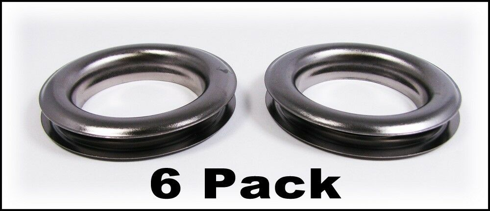 6pc Large 12 1 5 Hole Gun Metal Curtain Grommets With Washers 32 59 02 Ebay