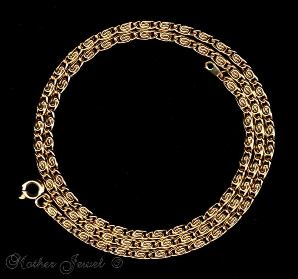 50cm 18ct Yellow Gold Gp Necklace Mens Womens Unisex