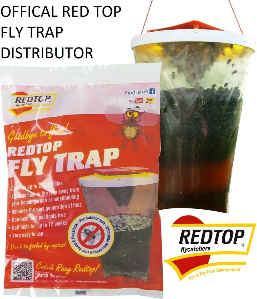 Fly Bag Trap Red Top Catcher Kills 20 000 Flies Insects