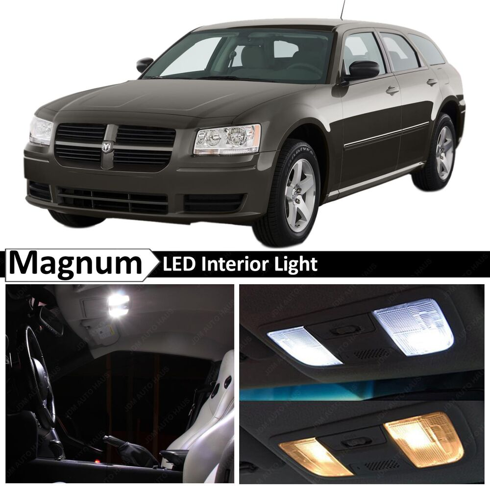 12x white led lights interior license plate package kit - Dodge magnum interior accessories ...