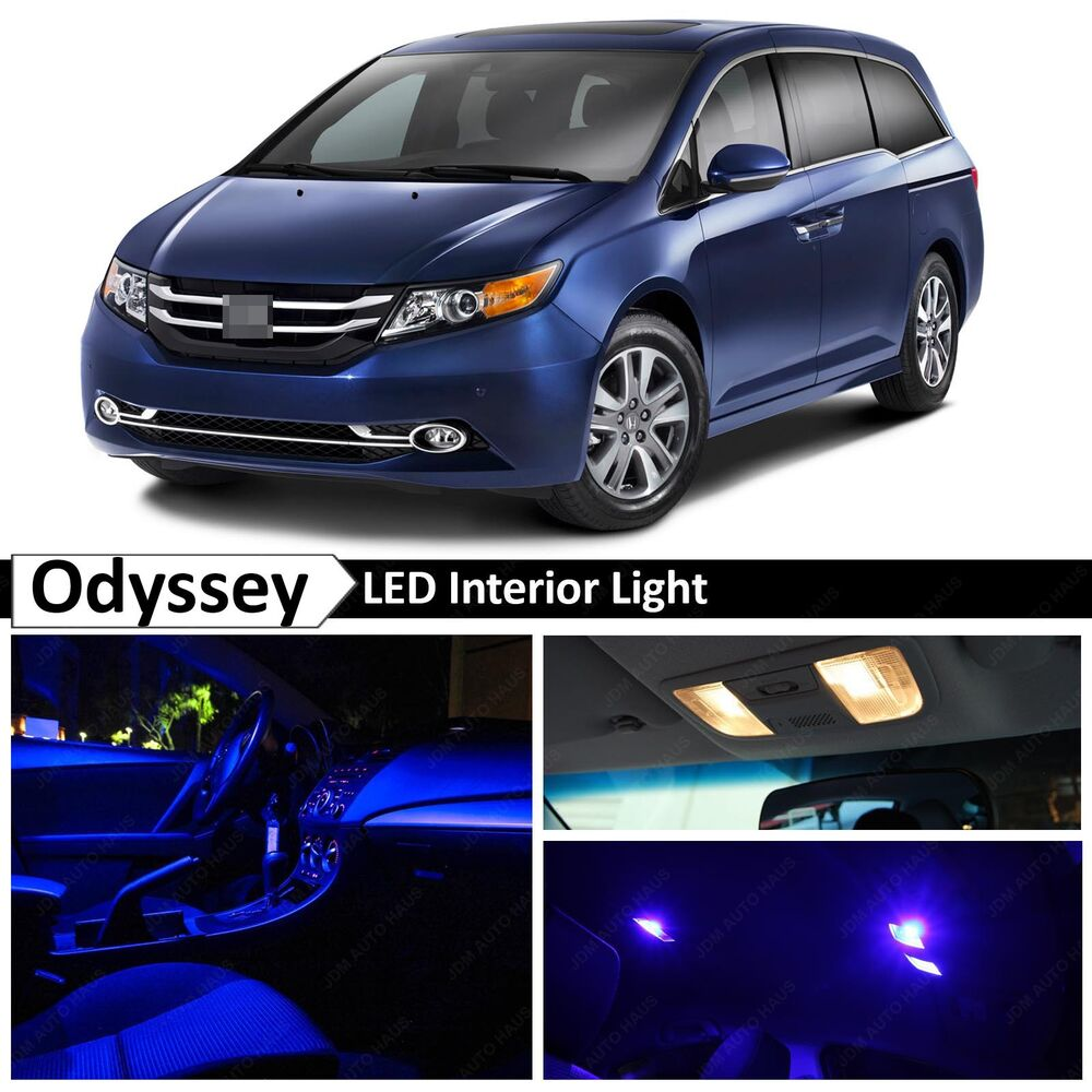 Details About Blue Interior License Plate Led Lights Package Kit Fits Honda Odyssey 2017
