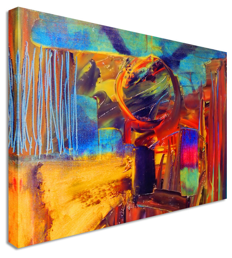 large abstract painting halo canvas wall art pictures ebay. Black Bedroom Furniture Sets. Home Design Ideas