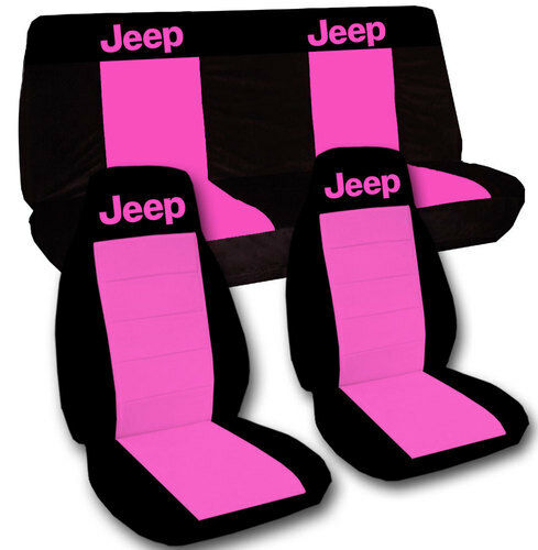 1997 2006 Jeep Wrangler Tj Seat Covers Hot Pink Amp Black