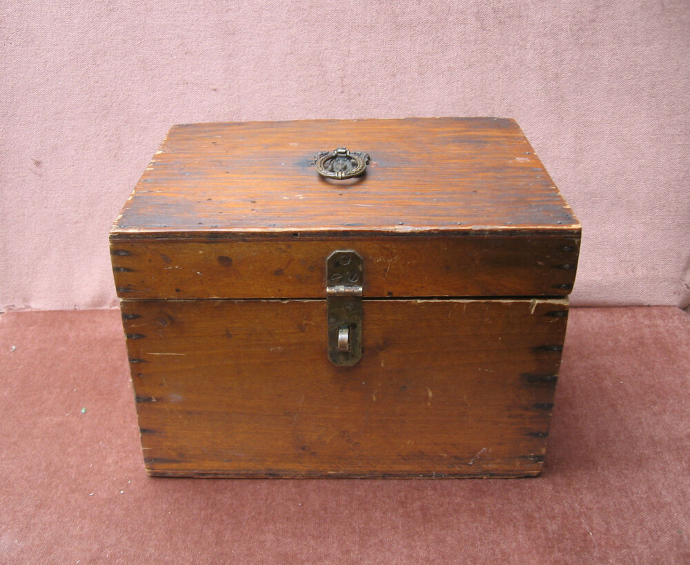 Vintage antique wood chest box ebay